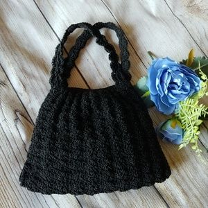 Vintage Hand Crocheted Demi Bag